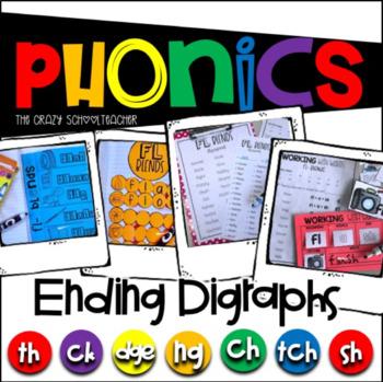 Phonics Ending Digraphs