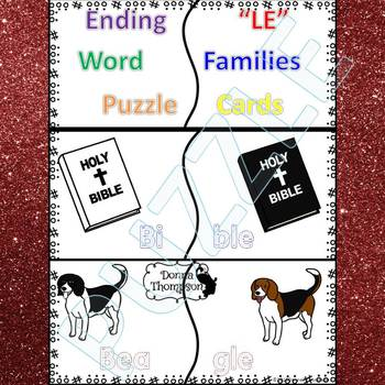 "Phonics ""Ending LE Words"" (Puzzle Cards)"