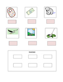 Phonics --Ending letter sound Worksheet b and l for the non-writer