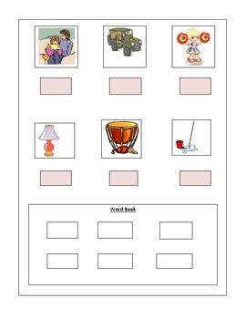 Phonics --Ending letter sound Worksheet m and p for the non-writer