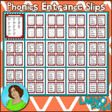 Phonics Entrance Slips