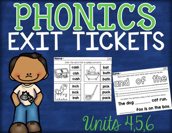 Phonics Exit Tickets Units 4-6