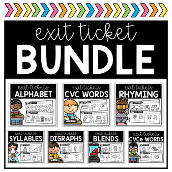 Phonics Exit Ticket BUNDLE