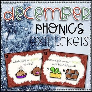 Phonics Exit Tickets~ December