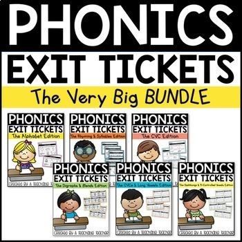 Phonics Exit Tickets Bundle