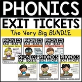 Phonics Exit Tickets Bundle