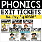 Phonics Exit Tickets GROWING Bundle