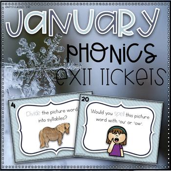 Phonics Exit Tickets~ January