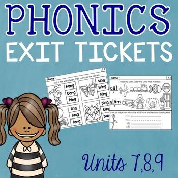 Phonics Exit Tickets Level 1 Units 7-9