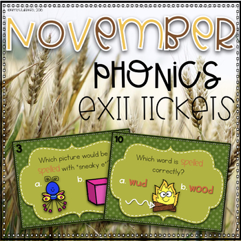 Phonics Exit Tickets~ November