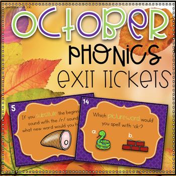 Phonics Exit Tickets~ October