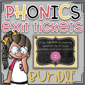 Phonics Exit Tickets DIGITAL ~ Growing BUNDLE