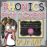 Phonics Exit Tickets ~ Growing BUNDLE