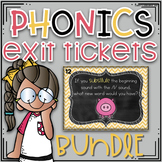 Phonics Exit Tickets ~ BUNDLE