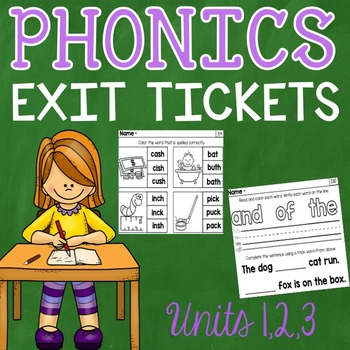 Phonics Exit Tickets Units 1 - 3