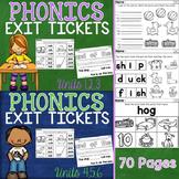 Phonics Exit Tickets Units 1-6