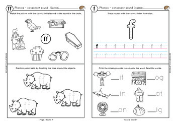 Phonics F Ff L Ll Ss Worksheets By Koodlesch Teachers Pay Teachers