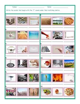 Phonics F Sound Photo Worksheet