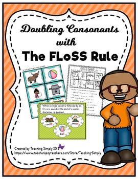 Double Consonants / FLoSS Rule Printables and Activities