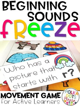 Phonics FREEZE Beginning Sounds Game