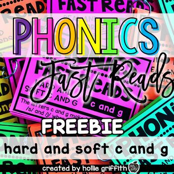 Phonics Fast Reads FREEBIE: Hard and Soft c and g