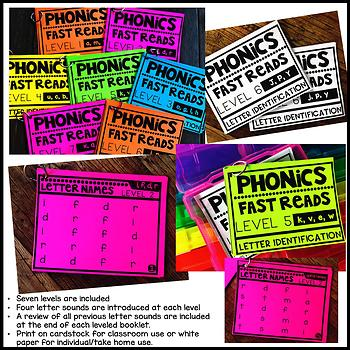 Phonics Fast Reads: Letter Recognition and Identification