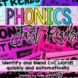 Decoding Drills and Strategies: Short Vowels CVC {Phonics Fast Reads}