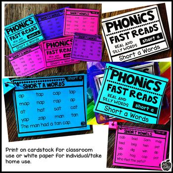Phonics Fast Reads: Short a FREEBIE