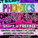 Phonics Fast Reads: Short a FREEBIE