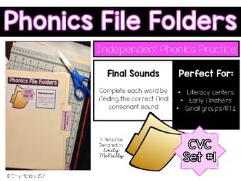 Phonics File Folders: CVC Set 1