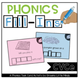 Phonics Fill-Ins Task Cards: CVCe