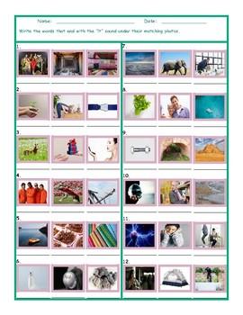 Phonics Final Consonant Cluster LT Photo Worksheet