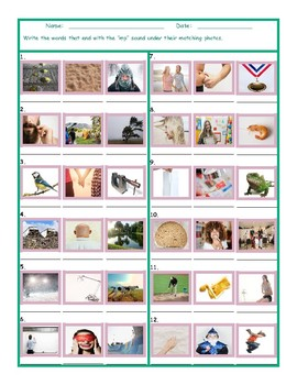 Phonics Final Consonant Cluster MP Photo Worksheet