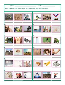 Phonics Final Consonant Cluster ND Photo Worksheet