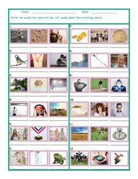 Phonics Final Consonant Cluster RD Photo Worksheet