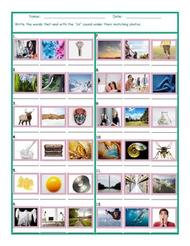 Phonics Final Consonant Cluster SK Photo Worksheet