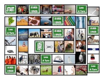 Phonics Final Consonant Clusters ct-ft-lt-nt-pt Photo Board Game
