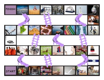 Phonics Final Consonant Clusters ct-ft-lt-nt-pt Photo Slides and Stairs Game
