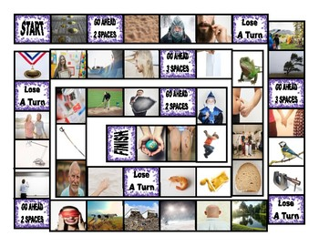 Phonics Final Consonant Clusters mp-nd-ld-rd Photo Board Game