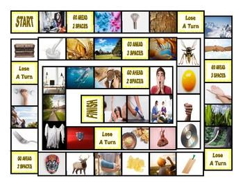 Phonics Final Consonant Clusters st-lk-sk-rk-lp-sp Photo Board Game