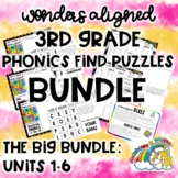 Phonics Find Puzzles: 3rd Gr. Wonders Aligned ALL PUZZLES: