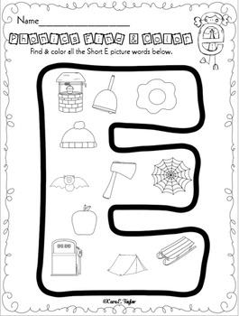 Phonics Find and Color Freebie!