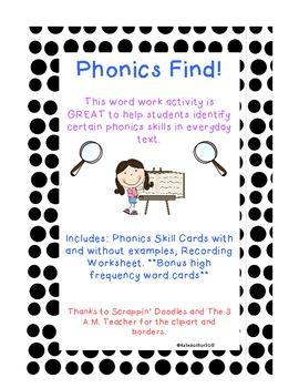 Phonics Find and Sight Word BONUS