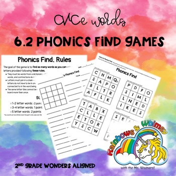 Phonics Find for CVCe Words (aligned to Wonders 6.2 - Unit 6 Week 2)