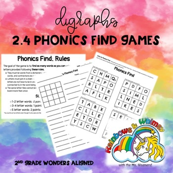 Phonics Find for Digraphs (aligned to Wonders 2.4 - Unit 2 Week 4)