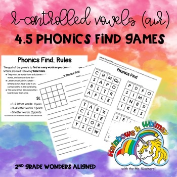 Phonics Find for R-Controlled Vowels -air Sound (Wonders 4.5 - Unit 4 Week 5)