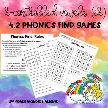 Phonics Find for R-Controlled Vowels -er(aligned to Wonders 4.2 - Unit 4 Week 2)