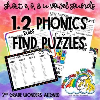 Phonics Find for Short E, O, & U Sounds (aligned to Wonders 1.2 - Unit 1 Week 2)