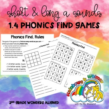 Phonics Find for Short & Long A Sounds (aligned to Wonders 1.4 - Unit 1 Week 4)