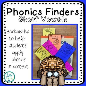 Phonics Finder Bookmarks: Short Vowels
